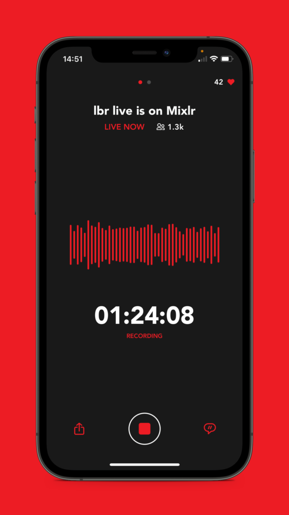 Go Live with Mixlr for Creators iOS